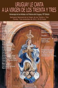 VIRGEN DE LOS 33 2012 afiche